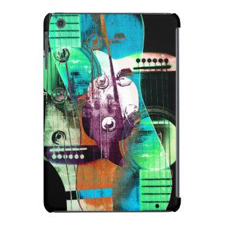 Collage abstracto urbano del jazz de la guitarra a funda de iPad mini