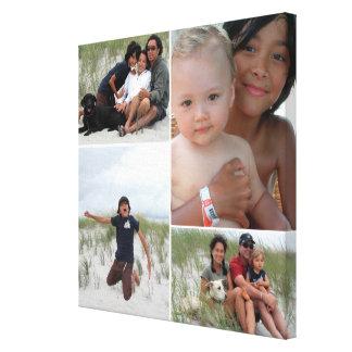 Collage adaptable de la foto de familia impresión en lienzo