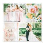 Collage adaptable de la foto del boda lienzo envuelto para galerías