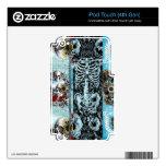 Collage adornado del cráneo iPod touch 4G skins