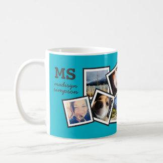 Collage al azar personalizado de la foto de 10 taza clásica