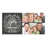 Collage alegre de la pizarra 3-Photo del navidad Tarjeta Con Foto Personalizada