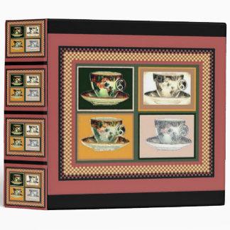 Collage alterado del arte de la taza de té del