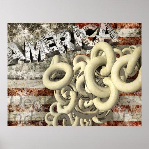 Collage americano póster