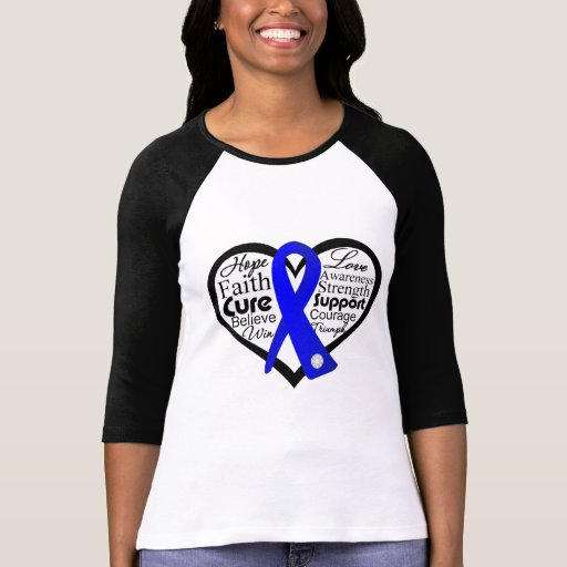 Collage anal de la cinta del corazón del cáncer camisetas