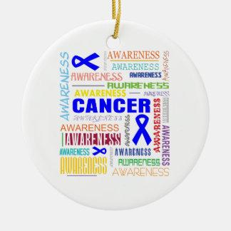 Collage anal de la conciencia del cáncer adorno