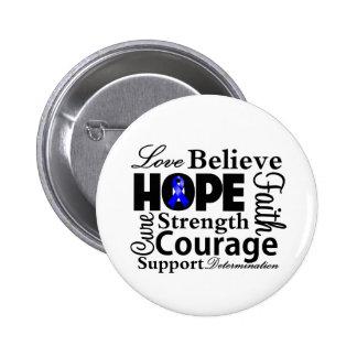 Collage anal del cáncer de la esperanza pin redondo 5 cm