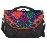 Collage animal colorido bolsas de portátil
