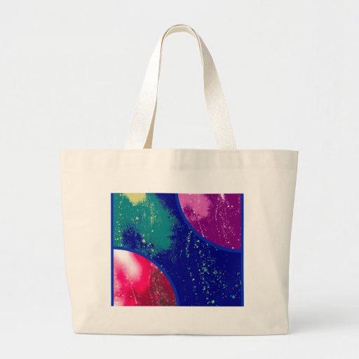 collage, artículos flúidos coloridos, abstractos bolsa