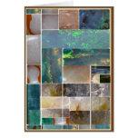 Collage artístico de mármol CRISTALINO: HealingSTO Felicitación
