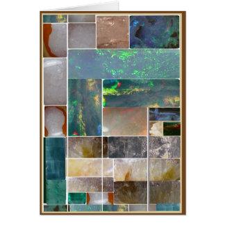 Collage artístico de mármol CRISTALINO: HealingSTO Tarjeta De Felicitación