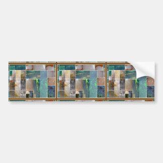Collage artístico de mármol CRISTALINO: Pegatina Para Auto