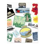 Collage asombroso del viaje postal