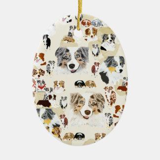 Collage australiano ornamento para arbol de navidad