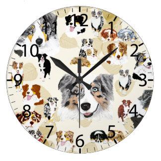 Collage australiano reloj redondo grande