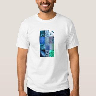 Collage azul de la foto remeras