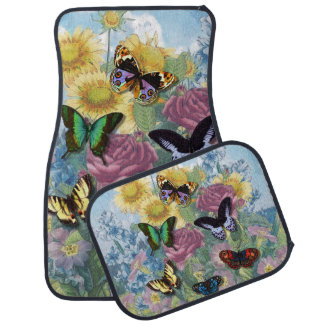 """Collage """"Beautiful Butterflies"""" Car Mats"""