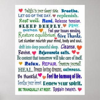 collage bien de la palabra del sueño póster