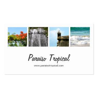 Collage blanco de la foto de Puerto Rico Tarjetas De Visita