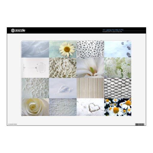 Collage blanco de la fotografía calcomanía para 38,1cm portátil