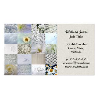 Collage blanco de la fotografía tarjeta de visita
