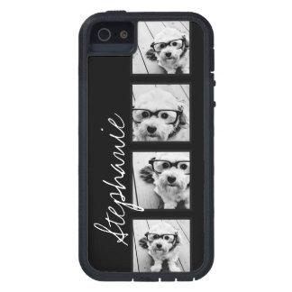 Collage blanco y negro de la foto de Instagram Funda Para iPhone 5 Tough Xtreme