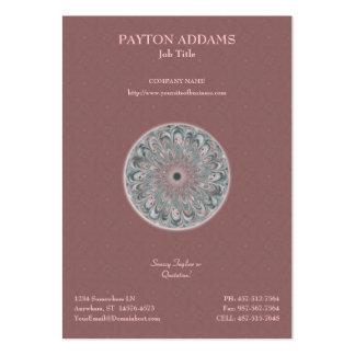 Collage Blossom Mandala -  Large Business Card