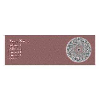 Collage Blossom Mandala - Profile Business Card