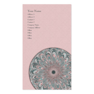 Collage Blossom Mandala - Vertical Business Card