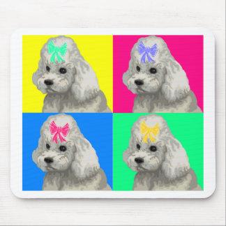 Collage brillante 2 del caniche alfombrilla de ratón