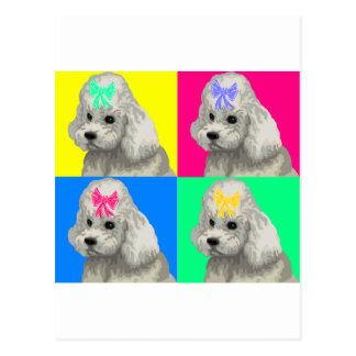 Collage brillante 2 del caniche tarjetas postales