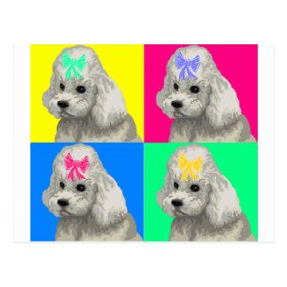 Collage brillante 2 del caniche postales