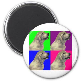 Collage brillante del color de Labrador Imán Redondo 5 Cm