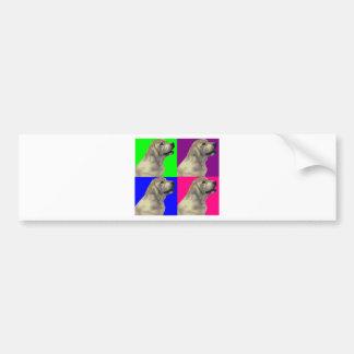 Collage brillante del color de Labrador Pegatina Para Auto