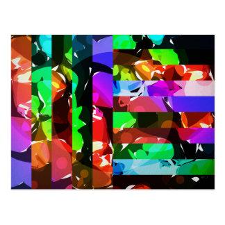 Collage brillante intrépido de los colores tarjetas postales