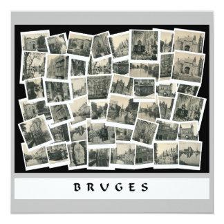 Collage Bruges in old postcards ca 1910