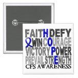 Collage CFS de la palabra de la esperanza Pins