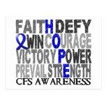 Collage CFS de la palabra de la esperanza Postal