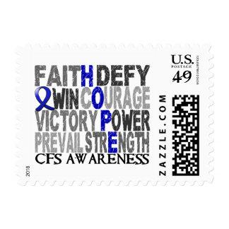 Collage CFS de la palabra de la esperanza Sello