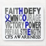 Collage CFS de la palabra de la esperanza Alfombrillas De Ratón