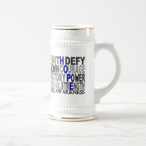 Collage CFS de la palabra de la esperanza Taza De Café