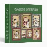 Collage Christmas Cards Keeper Notebook Binder