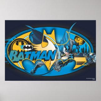 Collage clásico del logotipo de Batman Impresiones