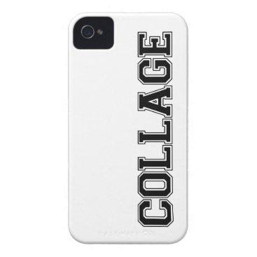 COLLAGE (College) iPhone 4/4s case