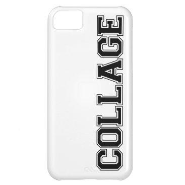 COLLAGE (College) iPhone 5c case