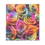 Collage color de rosa blocs de notas