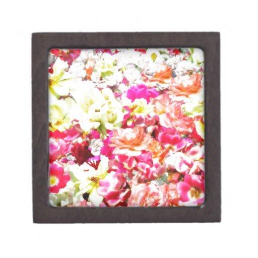 Collage color de rosa cajas de recuerdo de calidad