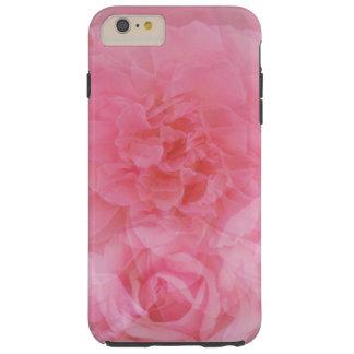 Collage color de rosa rosa claro floral soñador funda para iPhone 6 plus tough