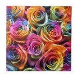 Collage color de rosa tejas