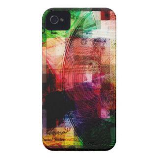 Collage colorido de la moneda carcasa para iPhone 4